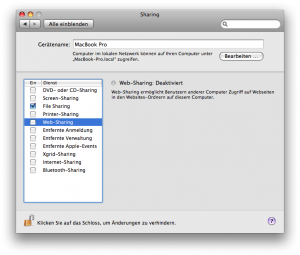 OS X Sharing Panel Services