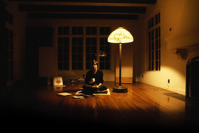 Steve Jobs meditating