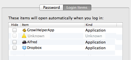 OSX Unknown Login Item