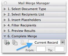Office Word Mail Merge VBA manual output setting