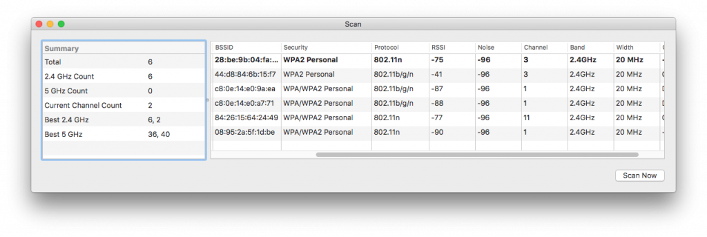 Wi-Fi Network Channel scanning on macOS 03