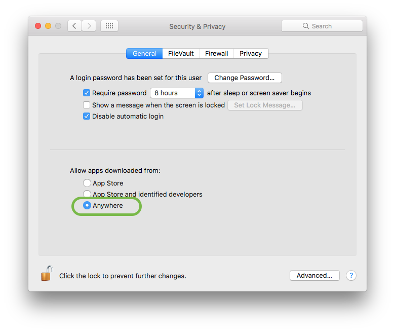 Security And Privacy Settings Mac