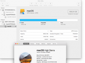macOS High Sierra Beta - APSF issue with external bootable SSD - 11 macOS High Sierra running on external SSD