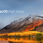 macOS High Sierra Wallpaper with OS name