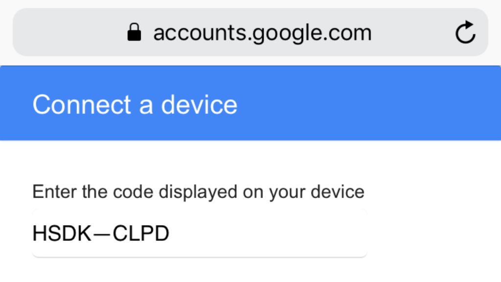 Linking YouTube account on Apple TV: activation code not