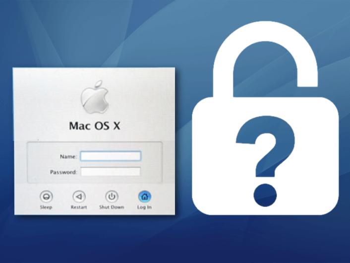 Image teasing Mac OS X Tiger how to reset user password