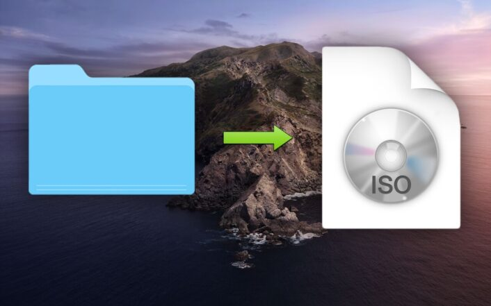 Teaser image for post macOS Catalina create ISO disk image from files folders